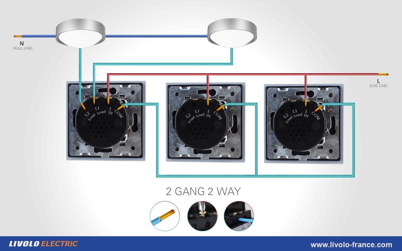 Supports livolo france for Va et vient a 3 interrupteurs