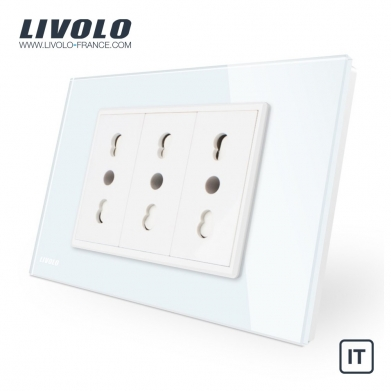 Electrical outlets in Italy - White