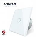 ZigBee Tactile 1 bouton / 1 voie - Interrupteur Wifi blanc