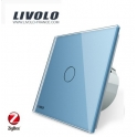ZigBee Tactile 1 bouton / 1 voie - Interrupteur Wifi bleu