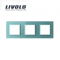 Plaque 3 prises - Livolo
