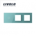 Plaque 1 bouton et 2 prises - Livolo