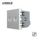 Mécanisme double interrupteur tactile 2 boutons / 2x1 voie télécommandable